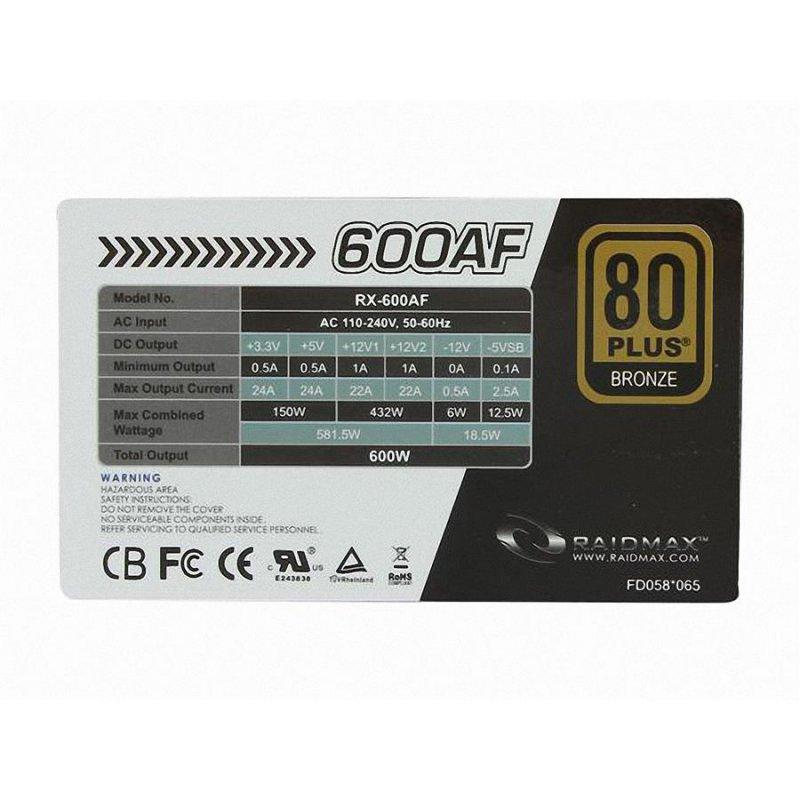 پاور ریدمکس مدل آر ایکس 600AF