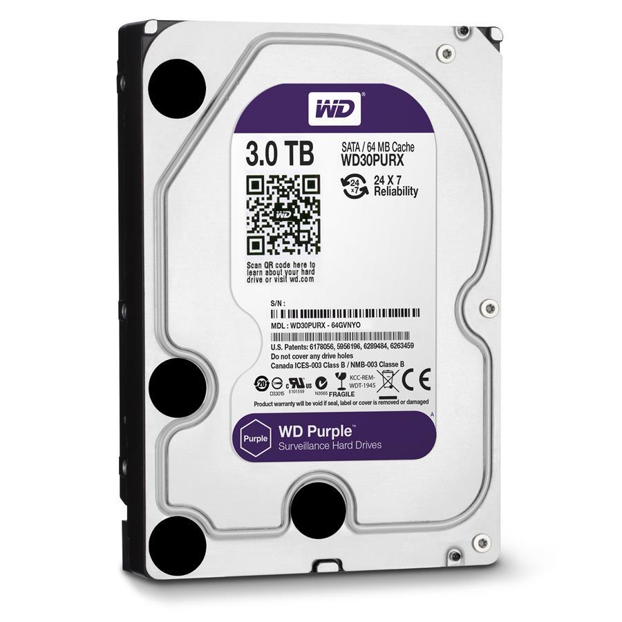 هارددیسک اینترنال وسترن دیجیتال سری Purple ظرفیت 3 ترابایت