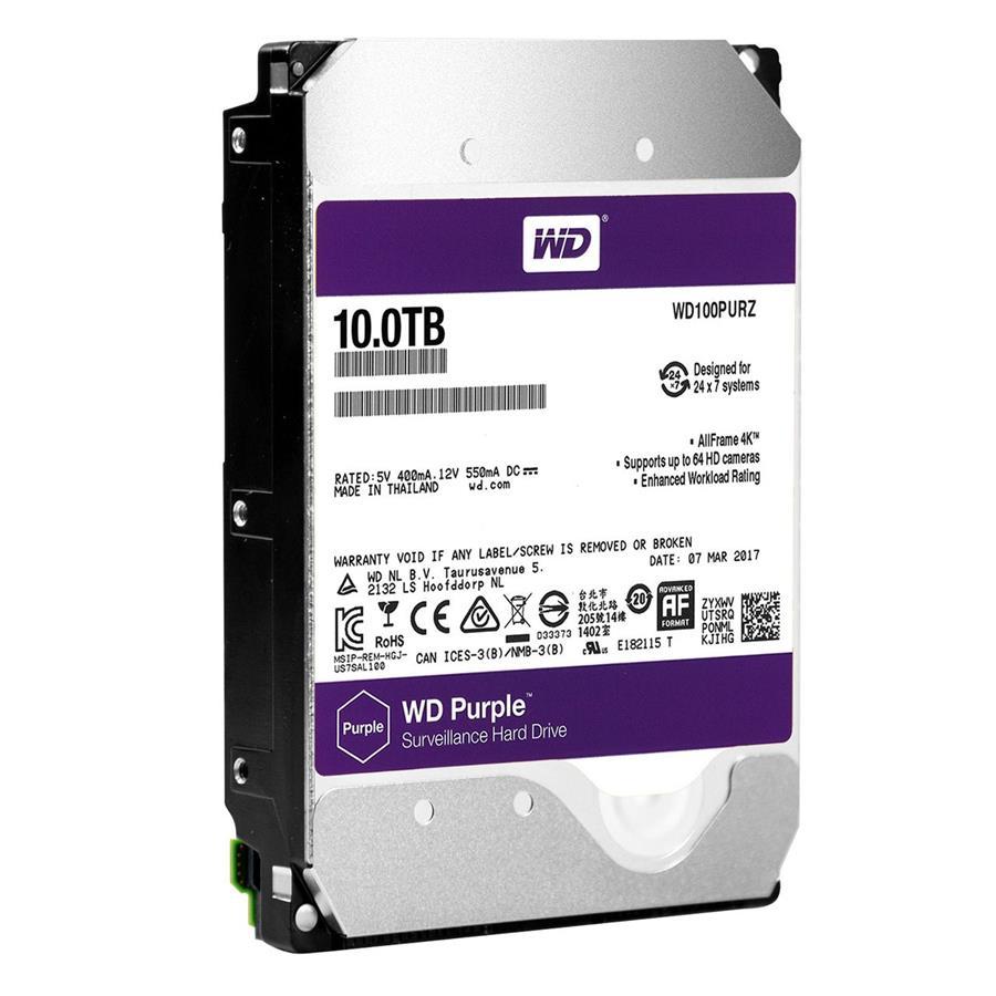 هارد دیسک اینترنال وسترن دیجیتال سری Purple با ظرفیت 10 ترابايت