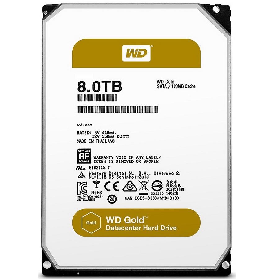 هارد دیسک اینترنال وسترن دیجیتال سری گولد با ظرفیت 8 ترابایت