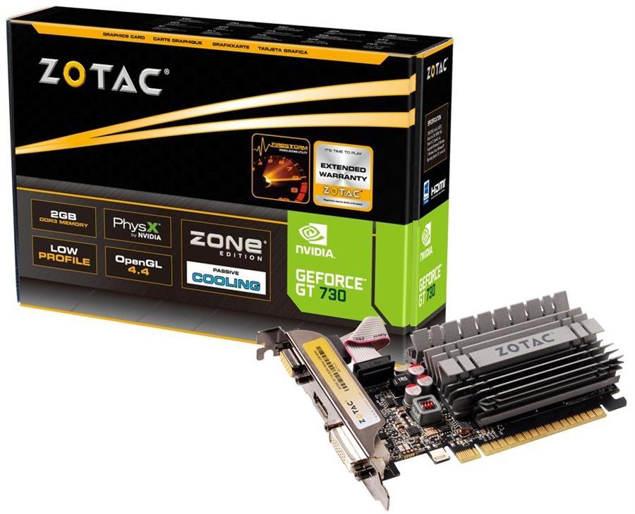 کارت گرافیک زوتاک مدل جی تی 730 ZONE Edition با حافظه 2 گیگابایت