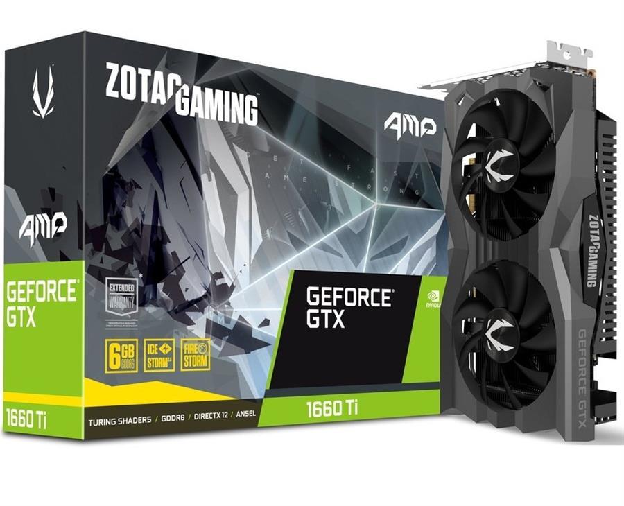 کارت گرافیک زوتاک مدل GeForce GTX 1660 Ti AMP GDDR6 با حافظه 6 گیگابایت
