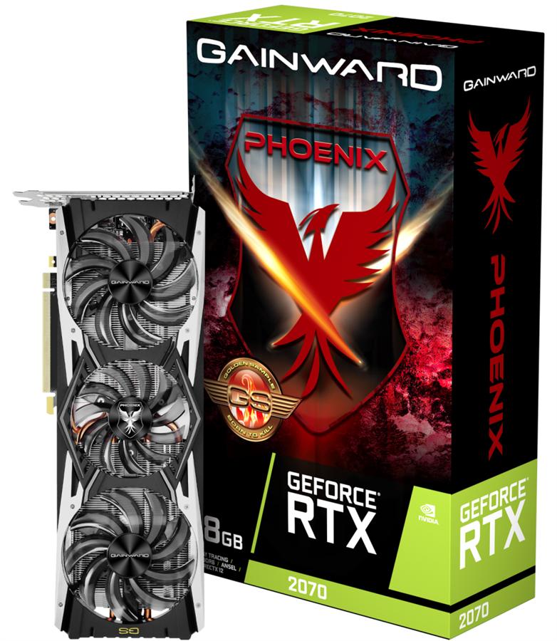 کارت گرافیک گینوارد مدل GeForce RTX 2070 Phoenix GS 3X FAN با حافظه 8 گیگابایت