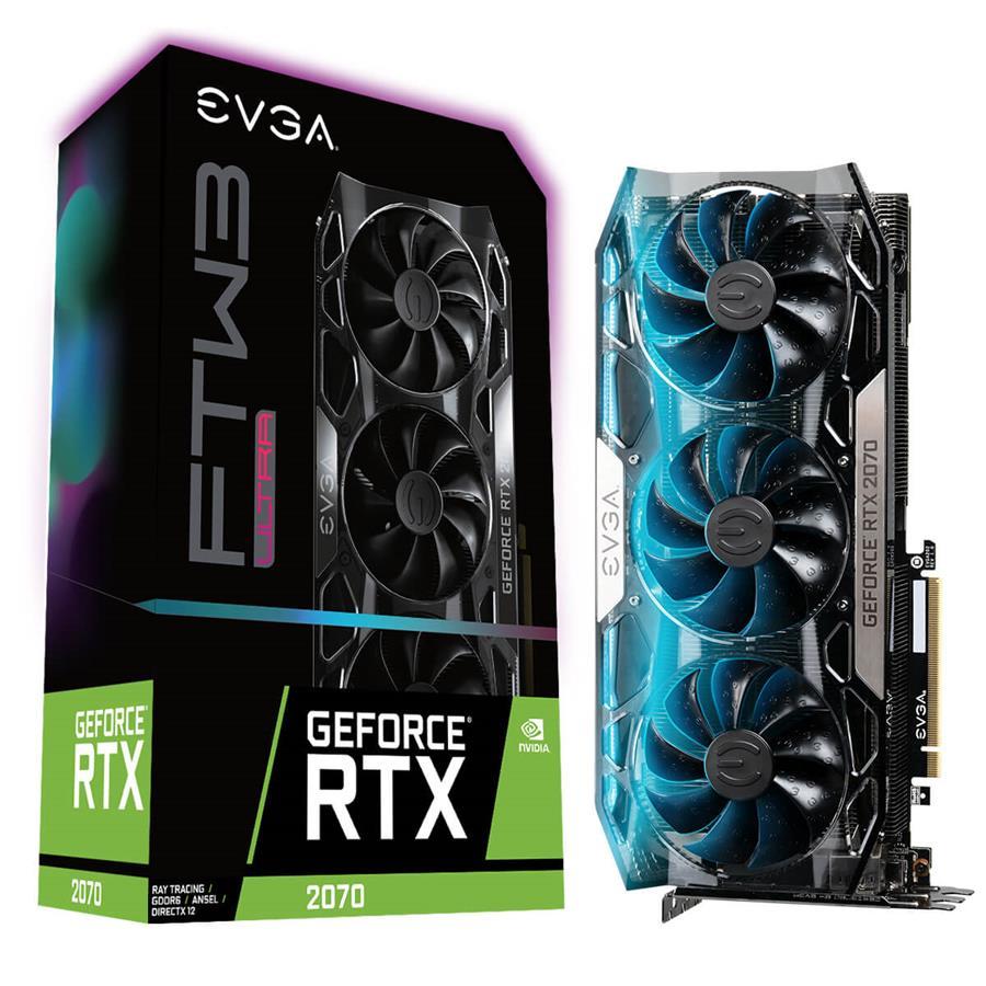 کارت گرافیک ای وی جی ای مدل GeForce RTX 2070 FTW3 ULTRA GAMING  با حافظه 8 گیگابایت