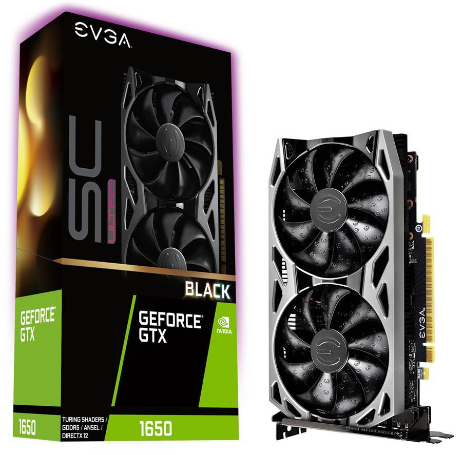 کارت گرافیک ای وی جی ای مدل GeForce GTX 1650 SC Ultra Black GAMING  با حافظه 4 گیگابایت