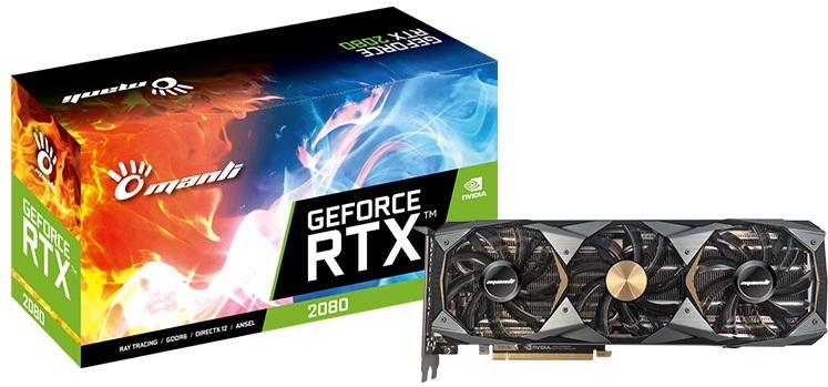 کارت گرافیک مانلی مدل GeForce RTX 2080 Triple Cooler با حافظه 8 گیگابایت