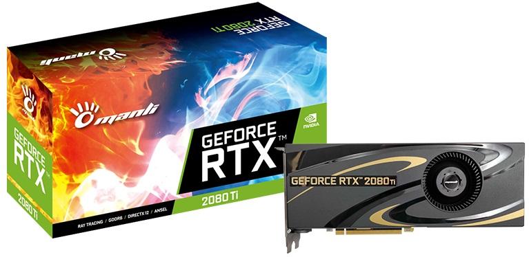 کارت گرافیک مانلی مدل GeForce RTX 2080 Ti Heatsink Blower Fan  با حافظه 11 گیگابایت