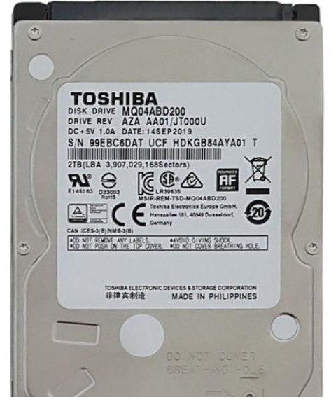 هارد دیسک لپ تاپ توشیبا MQ04ABD200 با ظرفیت 2 ترابایت