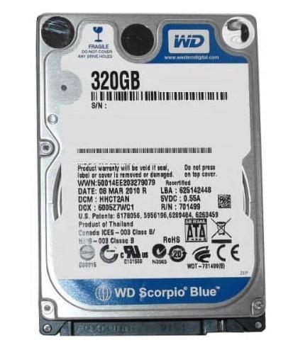 هارد دیسک لپ تاپ وسترن دیجیتال با ظرفیت 320 گیگابایت