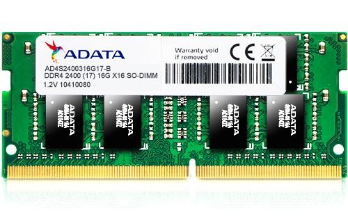رم لپ تاپ ای دیتا با فرکانس 2400 مگاهرتز و حافظه 16 گیگابایت