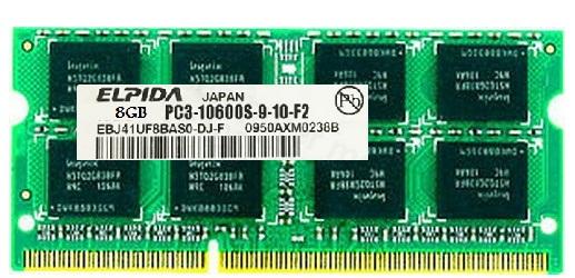 رم لپ تاپ الپیدا 8 گیگابایت با فرکانس 1333 مگاهرتز