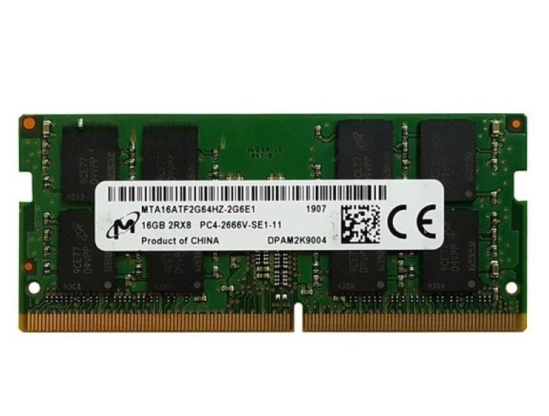 رم لپ تاپ میکرون با حافظه 16 گیگابایت و فرکانس 2666 مگاهرتز