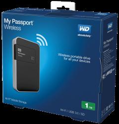 هارد اکسترنال مای پاسپورت 1 ترابایت وسترن دیجیتال با قابلیت وایرلس