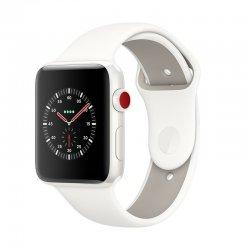 اپل واچ سری 3 سلولار مدل ادیشن 42mm بدنه سرامیک سفید با بند اسپرت سفید