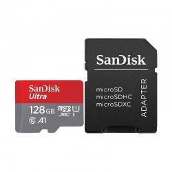 کارت حافظه microSDXC سن دیسک مدل A1 کلاس 10 استاندارد U1 با سرعت 100MB و ظرفیت 128 گیگابایت