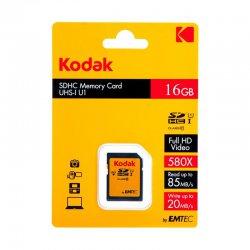 کارت حافظه کداک مدل SDHC کلاس 10 استاندارد UHS_I U1 85mp ظرفیت 16 گیگابایت