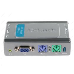 سوییچ ۲ پورت KVM همراه با پشتیبانی از صدای دی_لینک مدل KVM_۱۲۱